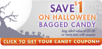 Save $1 on Halloween bagged candy with a value of $5 or more. Get your coupon here!