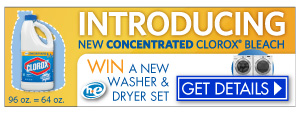 Win a free washer and dryer from Clorox