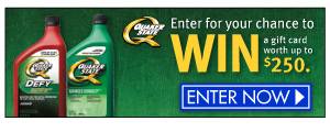 Win with Quaker State and Family Dollar