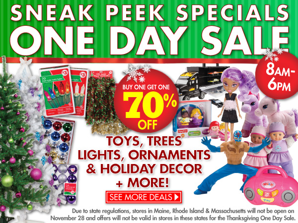 HUGE One-day sale!